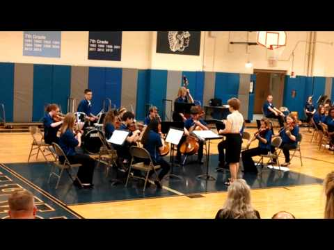 Justin Playing Drums with Herrick Middle School Orchestra
