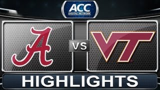 2013 ACC Football Highlights | Alabama vs Virginia Tech | ACCDigitalNetwork