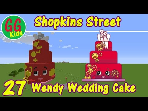 Wendy Wedding Cake 27 Shopkins Street How To Build Shopkins