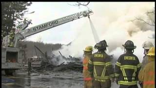 Fire destroys historic building in Stamford