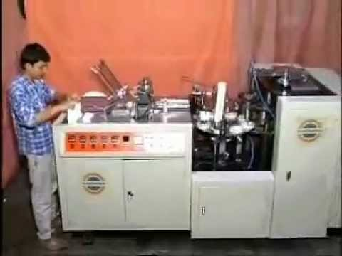 & Paper Cup Making Machine Manufacturers Hyderabad / AP / India - YouTube