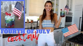 Fourth of July Cocktail | FESTIVE HEALTHY DRINK!