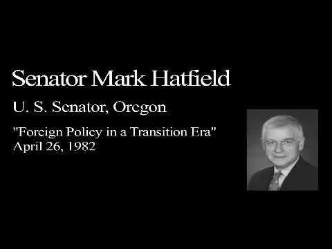 Landon Lecture | Mark Hatfield - audio only