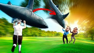 THROWING SHARKS TO ASSERT MY DOMINANCE | Bad Guy at School