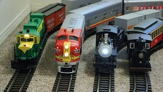 Big model trains running inside my small house thumbnail
