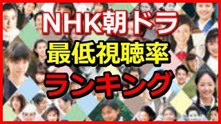 NHK朝ドラ歴代視聴率ワーストランキング 毎回のように好調な視聴率をだ...