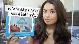 Tips For Surviving a Flight With a Toddler