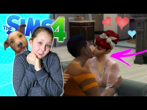 FIRST KISS WITH BOYFRIEND!! And My Pets Pee Everywhere!! Sims 4 - Ruby Rube