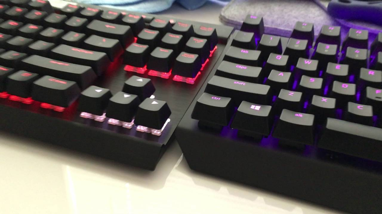 92dfcb8cc0c Corsair K65 LUX vs Blackwidow X Chroma Tournament Edition Sound Test -  YouTube
