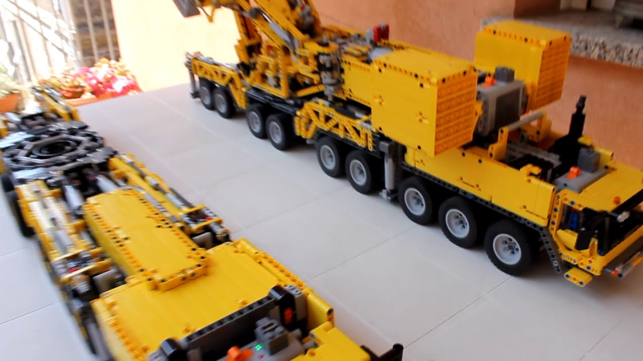 moc lego technic gru mobile grue crane kran liebherr ltm 11200 9 1 full rc youtube. Black Bedroom Furniture Sets. Home Design Ideas