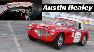 1962 Austin Healey 3000 MKII with Racing/FIA specs - Actions, OnBoard & Pure Sound!