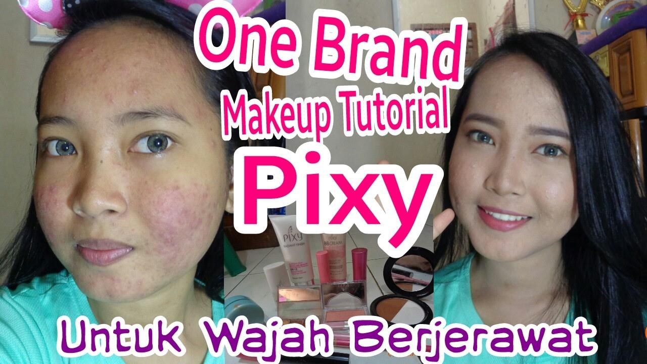 One Brand Makeup Tutorial Pixy Kawaii Untuk Wajah Berjerawat Full Plus Viva Youtube Premium