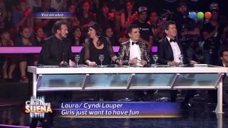 Laura Esquivel, Es Cyndi Lauper, Girls Just Want To Have Fun – Tú Cara Me Suena 2013