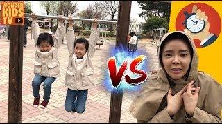 엄마와의 한판 승부! 운동회 대결! 체력대결 playground for kids l 엄마 vs 아이들 l kids sports battle challenge l 원더키즈TV