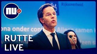 Kijk hier live naar de persconferentie van Rutte en De Jonge | NU.nl