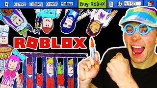 ROBLOX!!! 🤑 (JAIL BREAK) (DRESS UP) (WORK AT PIZZA PLACE) Coloring Page Roblox Story