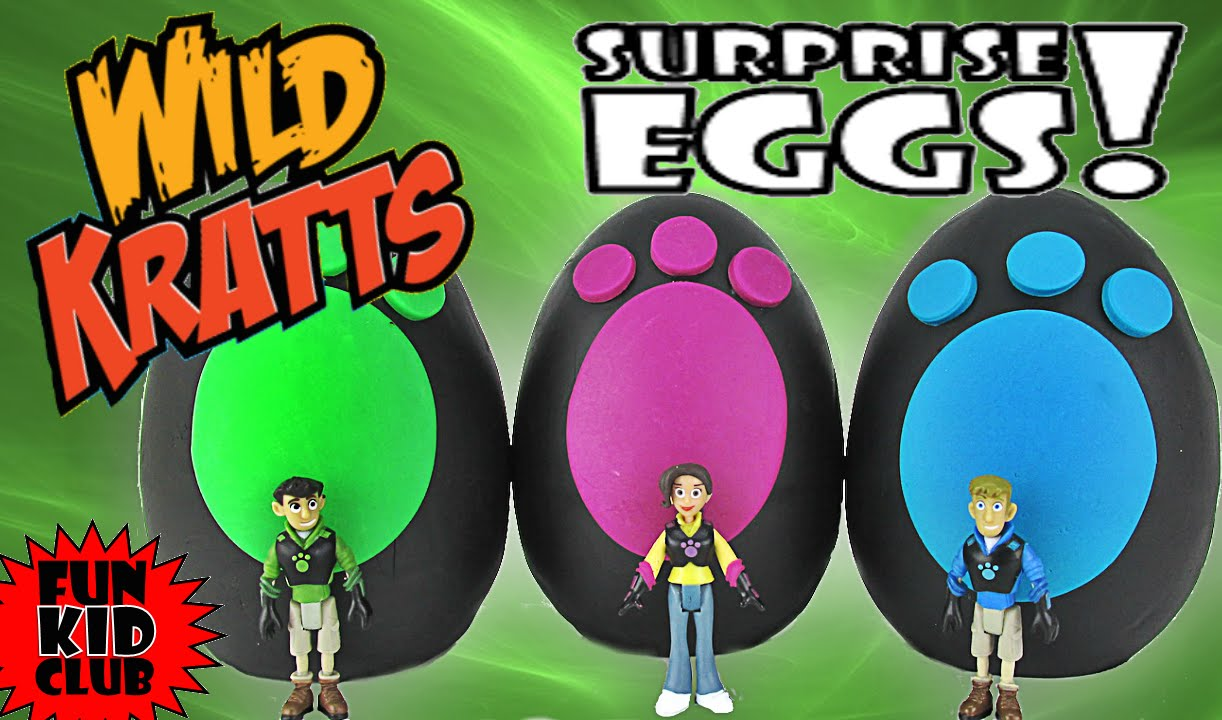 Wild Kratts Team 3 Play Doh Surprise Eggs Chris Aviva