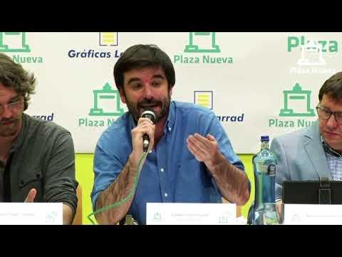 El debate de Plaza Nueva: Eneko Larrarte Huguet (Izquierda Ezkerra) pide el voto a la ciudadanía de Tudela