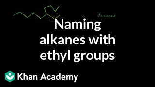 Naming alkanes with ethyl groups | Organic chemistry | Khan Academy