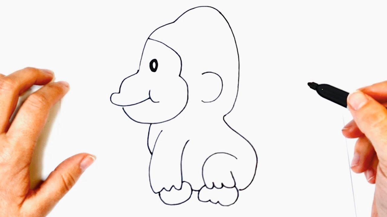 Como Dibujar Un Gorila Para Ninos Dibujo De Gorila Paso A Paso