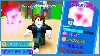 Noob with Valentium Pet! Best Pet! Unlock All Portals! - Roblox Bubble Gum Simulator