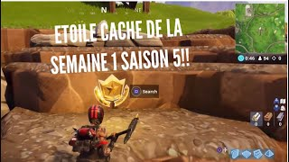 ÉTOILE DE LA SEMAINE 1 SAISON 5 PALIER SECRET- FORTNITE BATTLE ROYAL !!