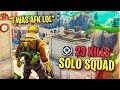 I was AFK.. and then WON A SOLO SQUAD with 23 KILLS!! (20+ FRAG)