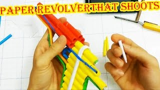 how to make a paper revolver that shoots   6 paper bullet paper gun