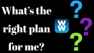 WHAT'S THE RIGHT WW PLAN FOR ME?? | BLUE, GREEN OR PURPLE?? | WEIGHT WATCHERS!