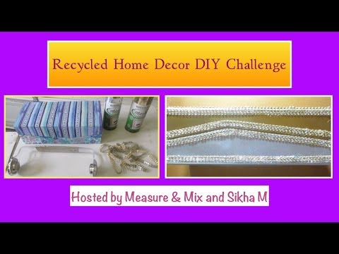 Recycled Home Decor DIY Challenge/Bling Paper Towel Holder