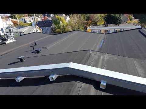 2 ply tourch down roof in Seattle Wa. Installed by Clear View Exteriors LLC.