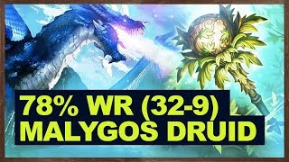 78% Win Rate (32-9) - Destroys The Meta With Malygos Druid | Hearthstone