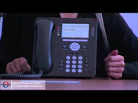 How to Transfer a Call on an Avaya Phone