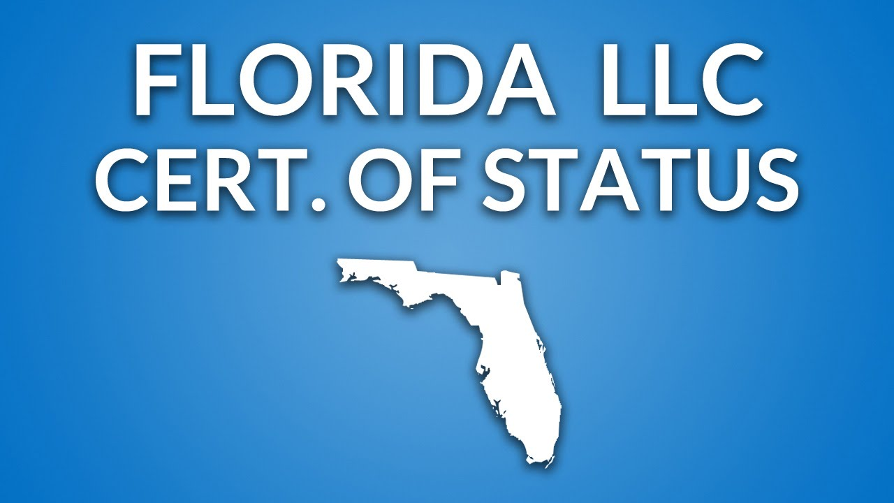 Florida Llc Certificate Of Status Youtube