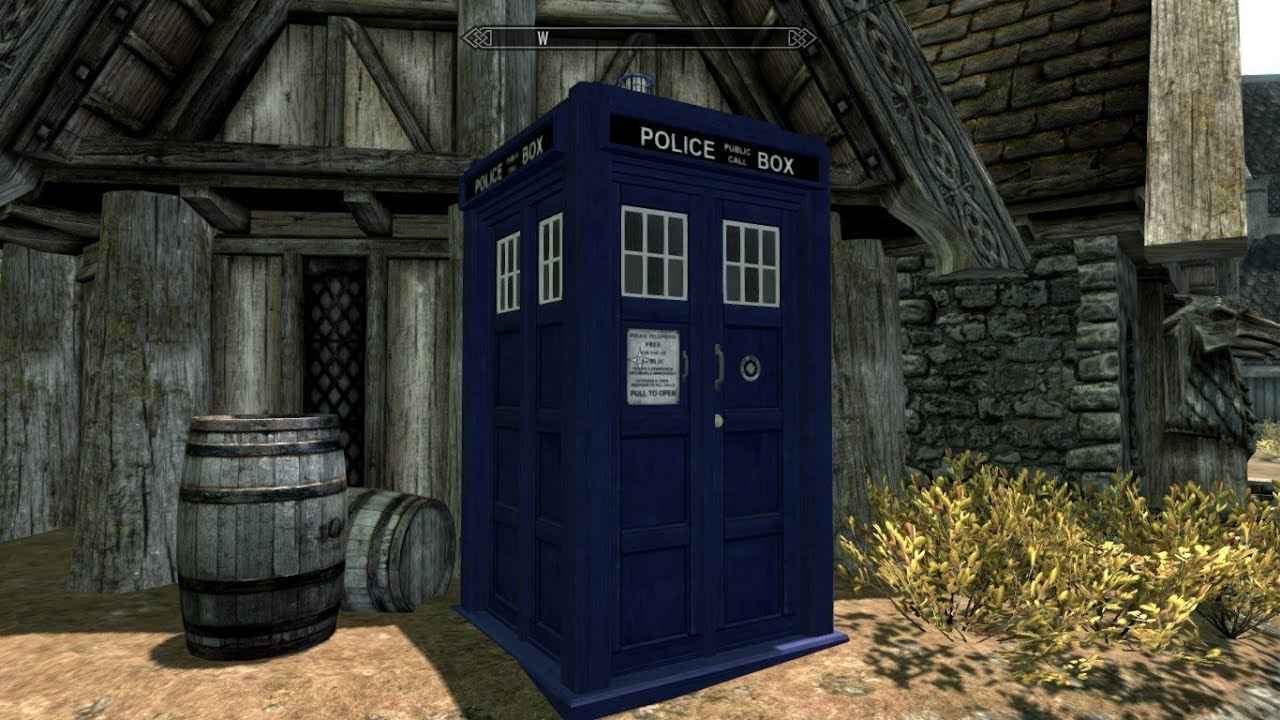 Dr Who TARDIS Skyrim Mod Link In Description Below