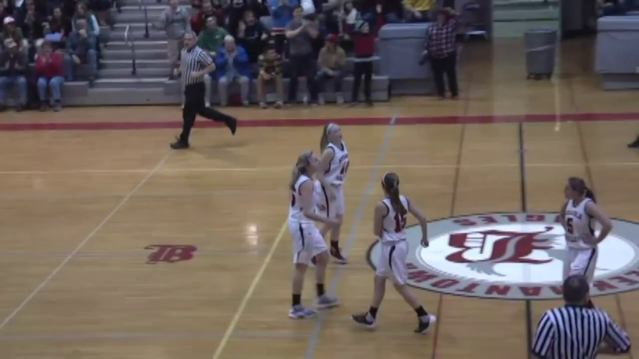 AVCS's Madison McCabe Buzzer Beater  2-17-16