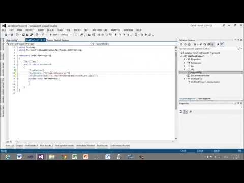 Data Driven Unit Tests with Excel DataSource - YouTube