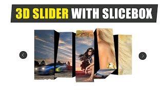 Build a 3D Slider for website header using Html 5 and SliceBox