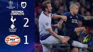 Tottenham Hotspur 2-1 PSV Eindhoven - GOLES Y RESUMEN EXTENDIDO - UEFA Champions League
