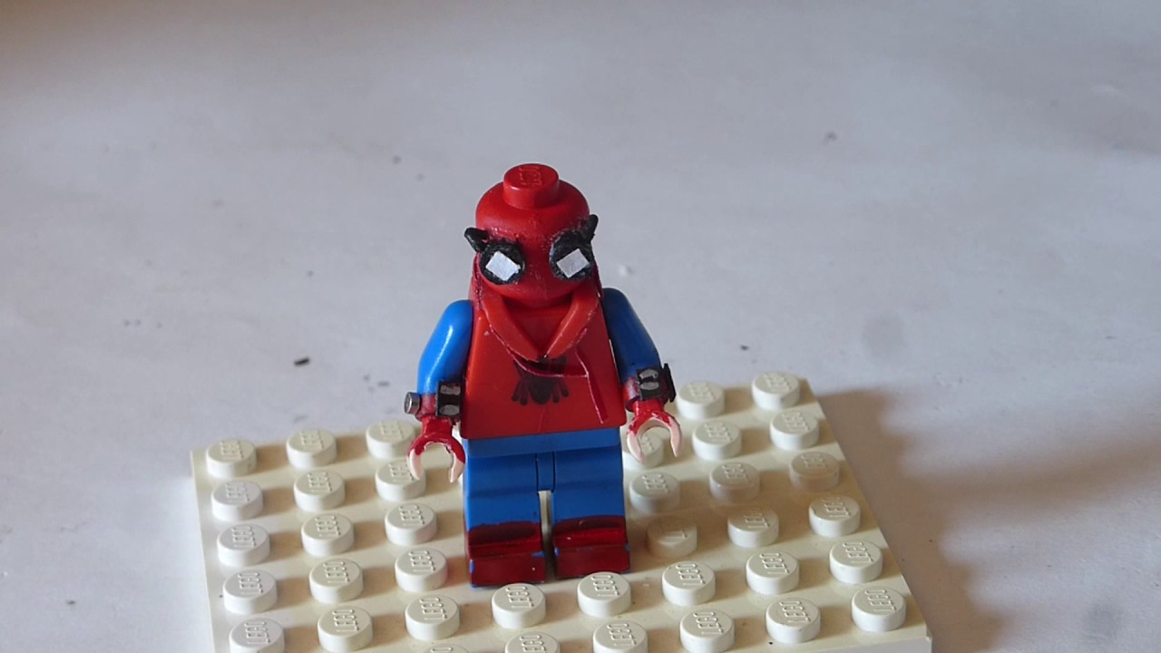 Lego Custom Spider Man In Homemade Suit YouTube - How to make homemade lego decals