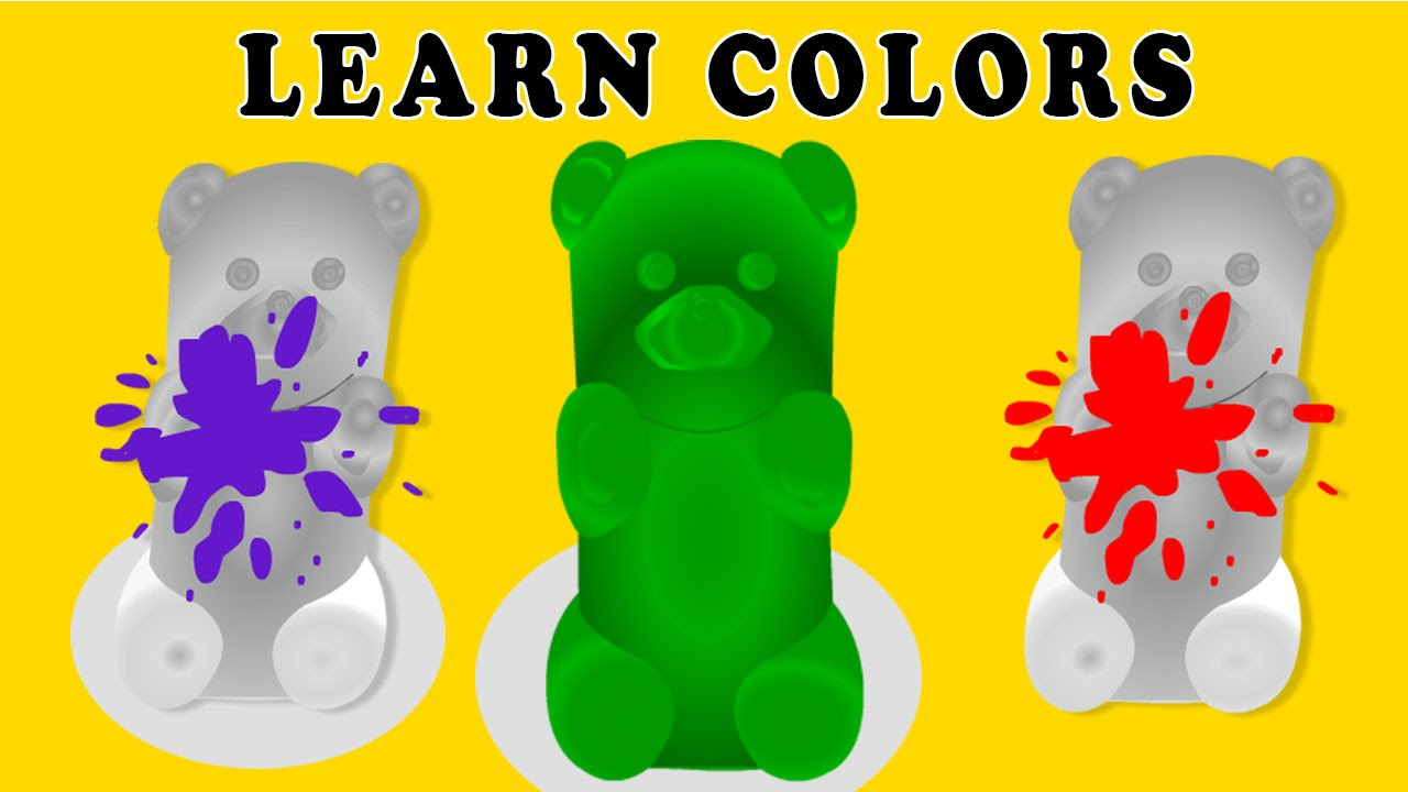 Learn Colors Songs for Children to Learn With Gummy Bears | Learning ...