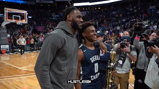 BRONNY SNAPPED!  LEBRON Watches PHENOM BRONNY Get Career High & MVP!! | IPAD Giveaway at 20K Subs