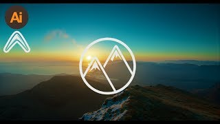 How to design a logo tutorial (mountain logo)