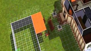 House On Foundation Connected To Garage On Ground Level In Sims 3