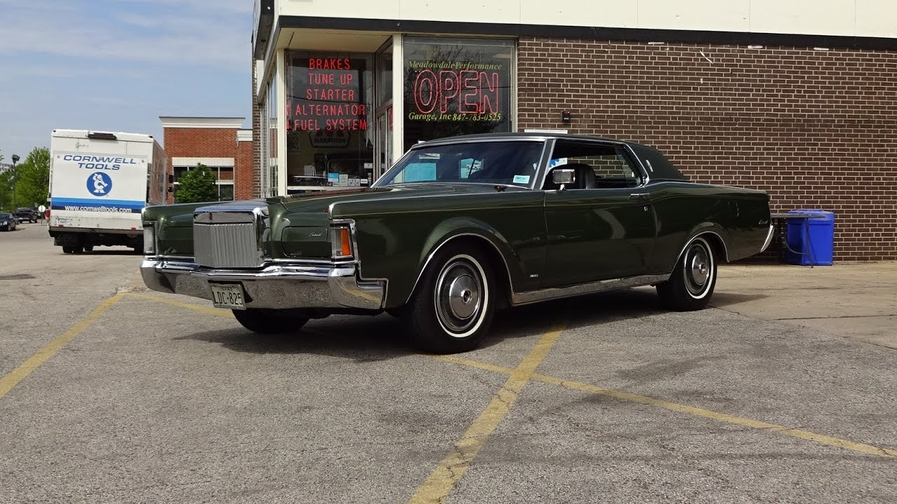 1971 Lincoln Continental Mark Iii In Ivy Moondust Engine Sound On