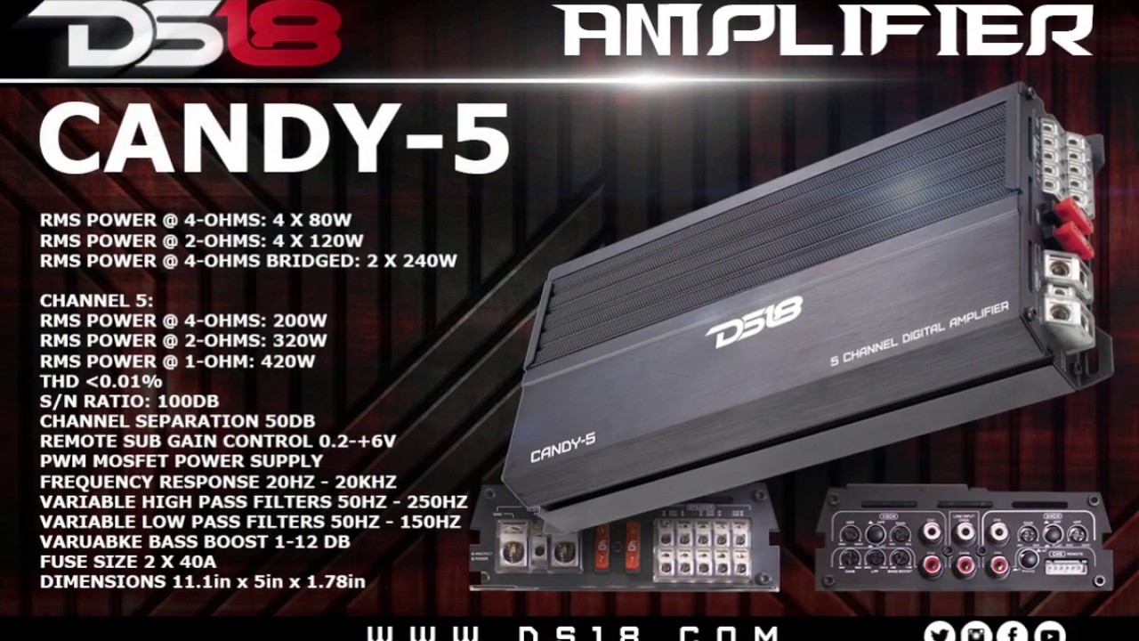 Ds18 Candy 5 Amp Youtube 240w Mosfet Amplifier