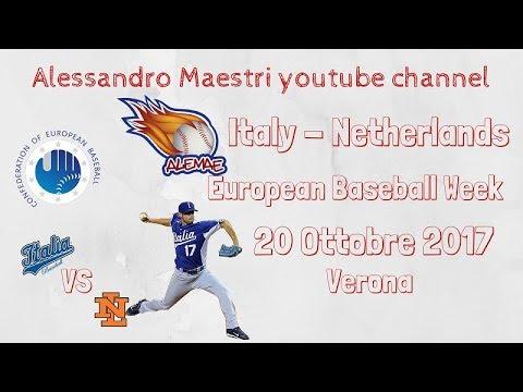 Italia contro Olanda - Italian Baseball Week 20 Ottobre 2017