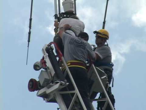 Man Trapped on Antenna Tower Rescued by Headland Fire/Rescue Assisted by Dothan Fire/Rescue