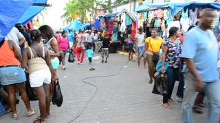 Grand Market Street Vibes in Falmouth Jamaica | Christmas Eve Shopping 2013