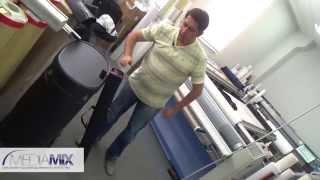 Монтаж роллерного стенда Pop Up - выставочное оборудование от компании